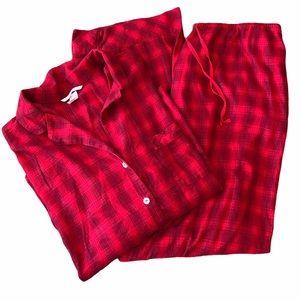 Victoria's Secret red plaid PJ set
